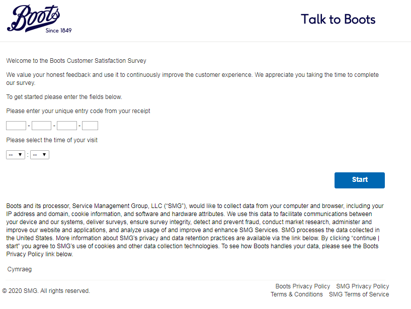 Our Boots Customer Feedback Survey