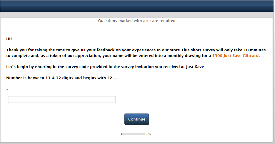 Just Save Foods Guest Satisfaction Survey